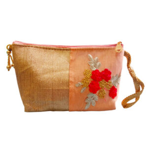 peach cosmetic pouch for girls image view 7