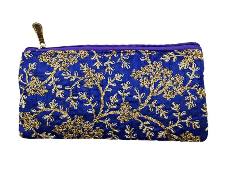 golden blue purse image view 4