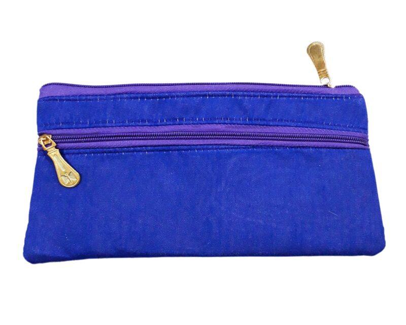 golden blue purse image view 3