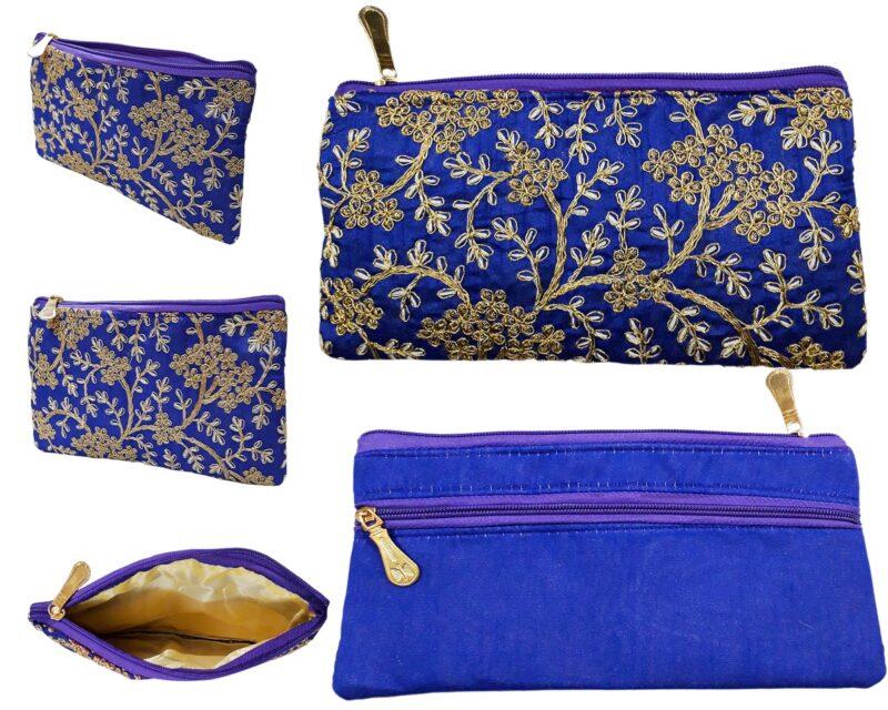 golden blue purse image