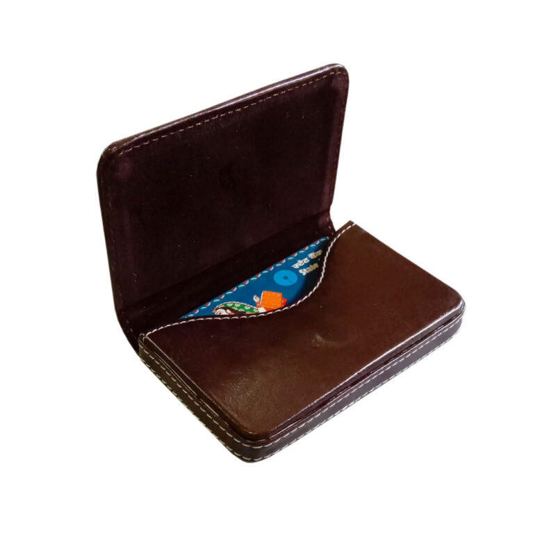leather card holder square - image view 5