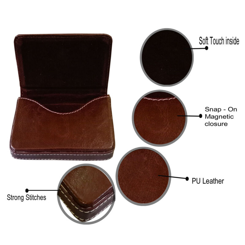 leather card holder square - image view 4