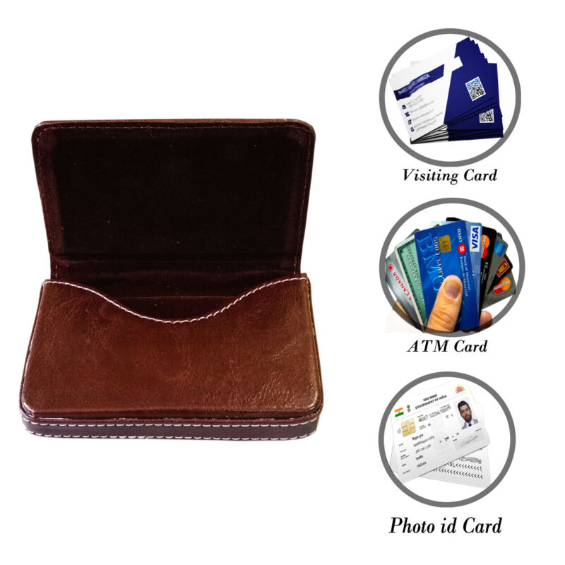 leather card holder square - image view 3