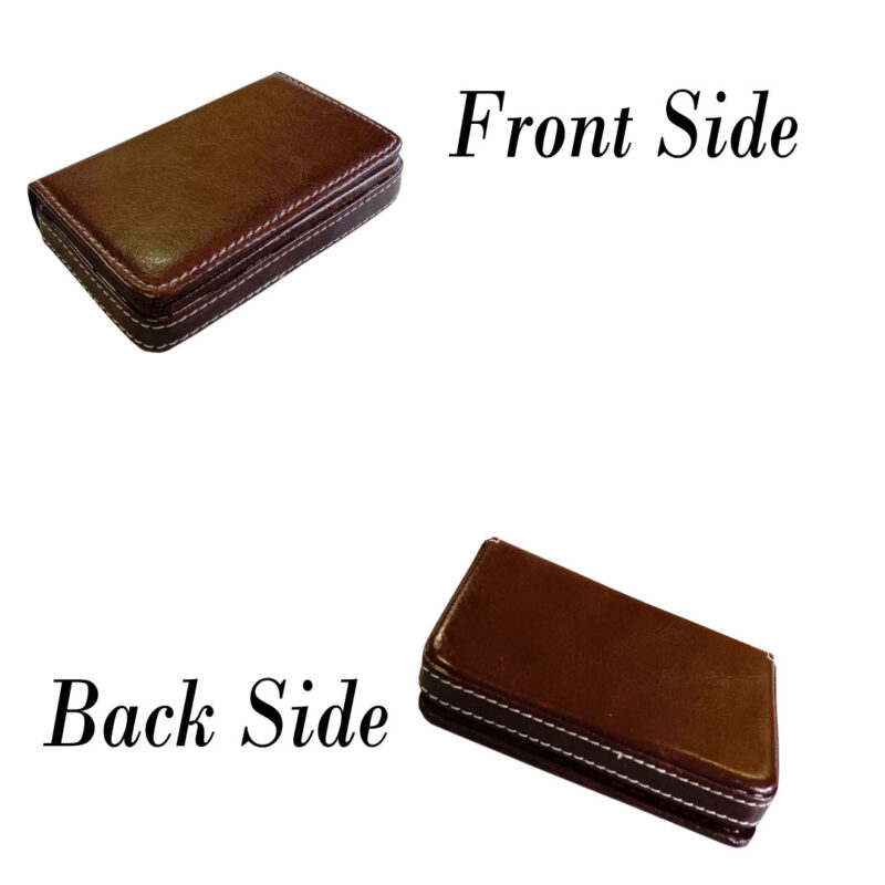 leather card holder square - image view 2