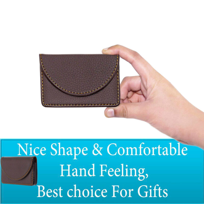 leather round shape card holder image view 3