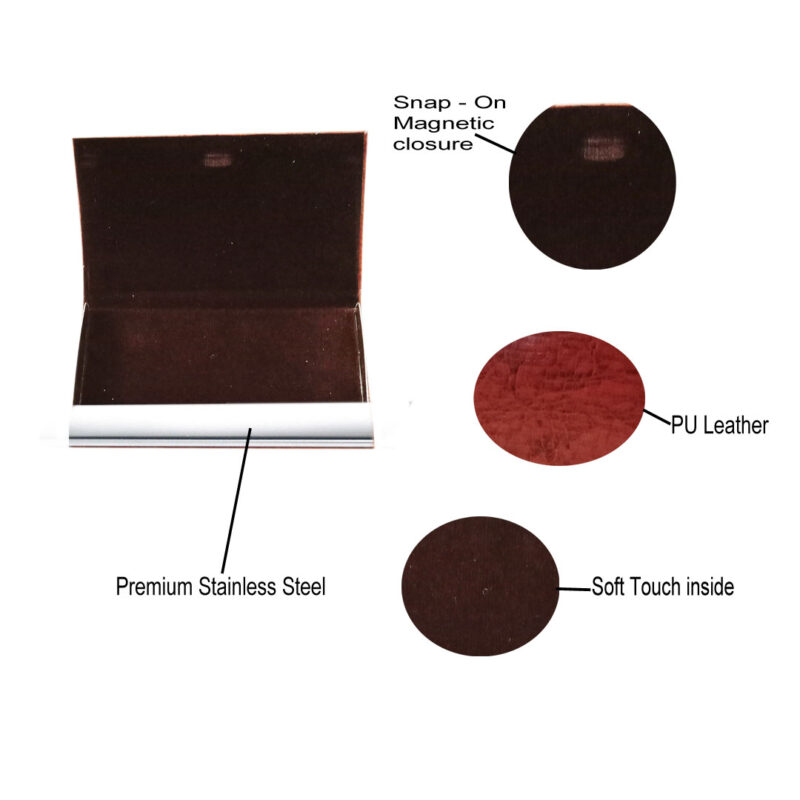 card holder matel - brown color image view 6
