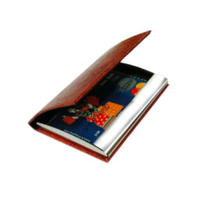 card holder matel - brown color image view 2