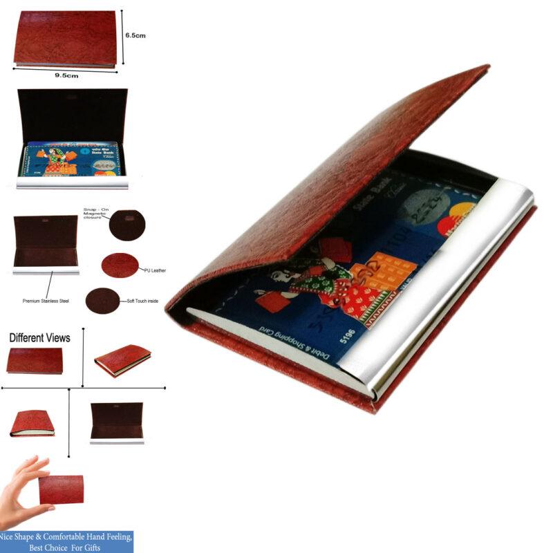 card holder matel - brown color