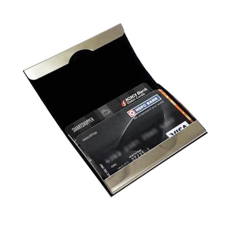 metal card holder -black image view 2