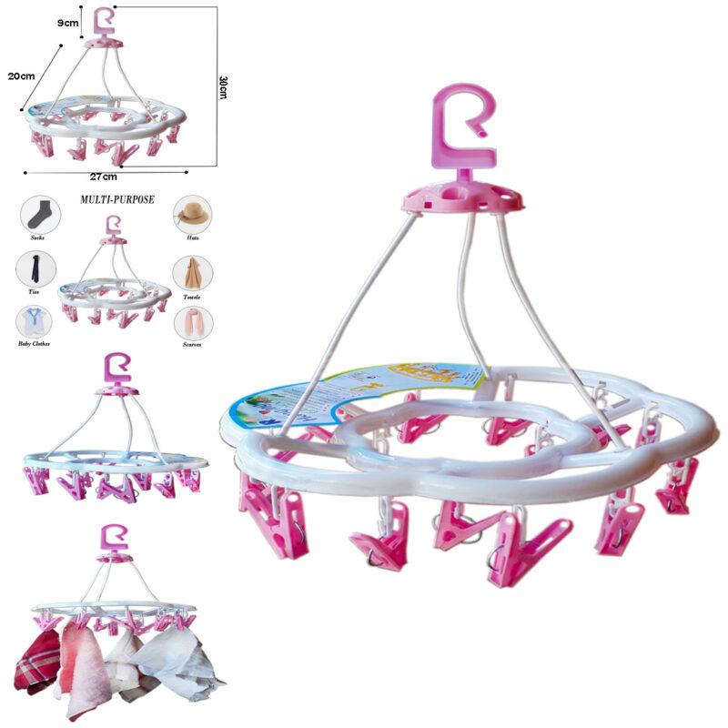 15 clip round hanger
