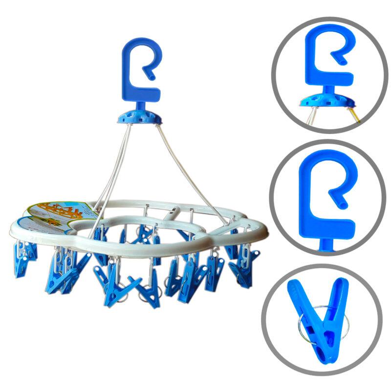 24 clip round hanger image view 2