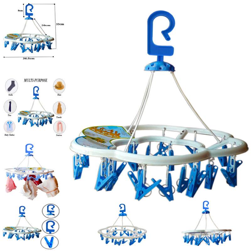 24 clip round hanger