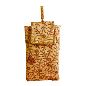 golden mobile saree pouch image view 6