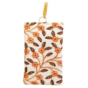 saree pouch - flower and leaf image view 8