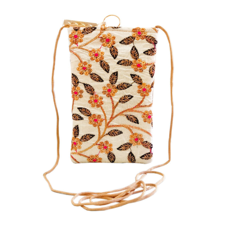 saree pouch - flower and leaf image view 6