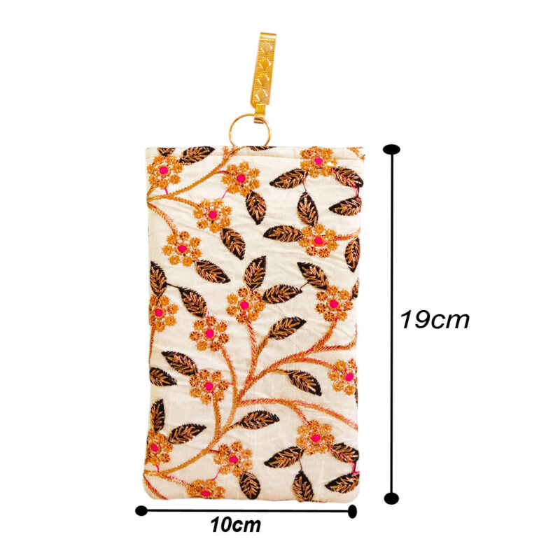 saree pouch - flower and leaf image view 5