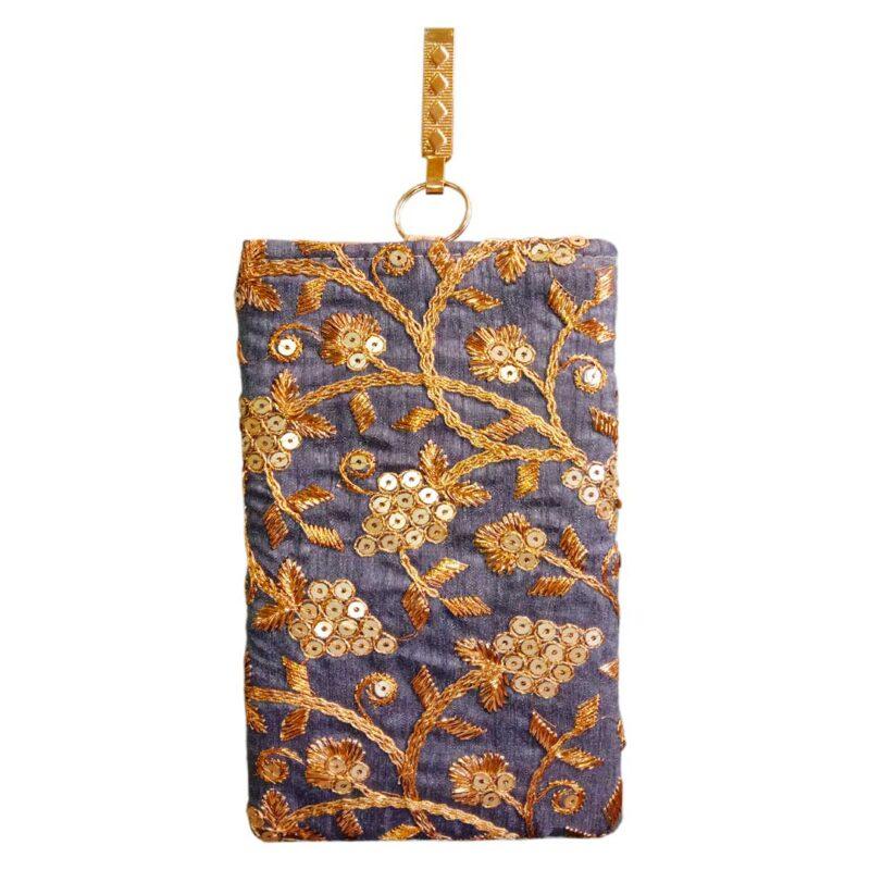 blue mobile saree pouch image view 7