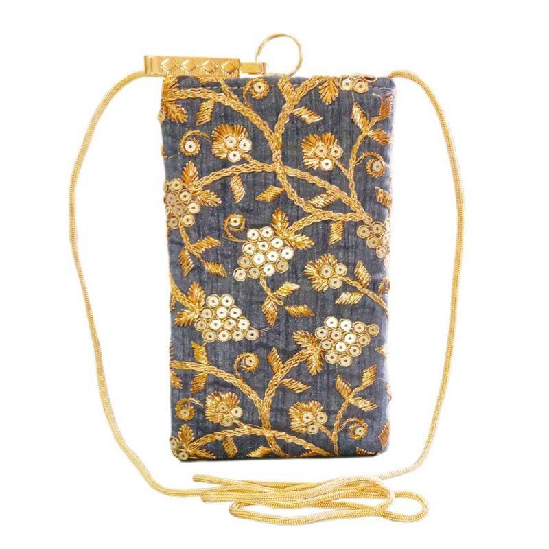 blue mobile saree pouch image view 6