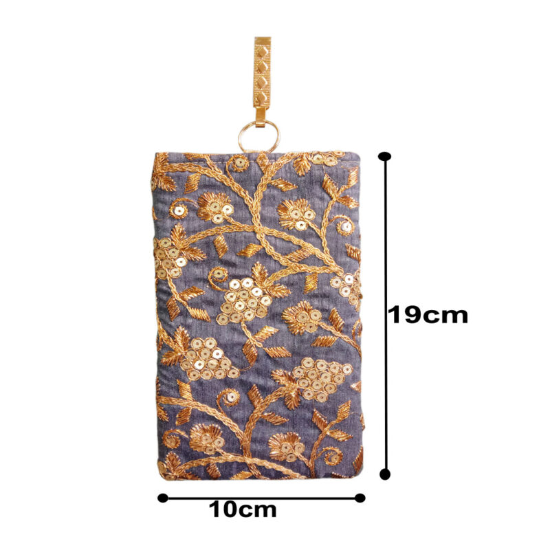 blue mobile saree pouch image view 5