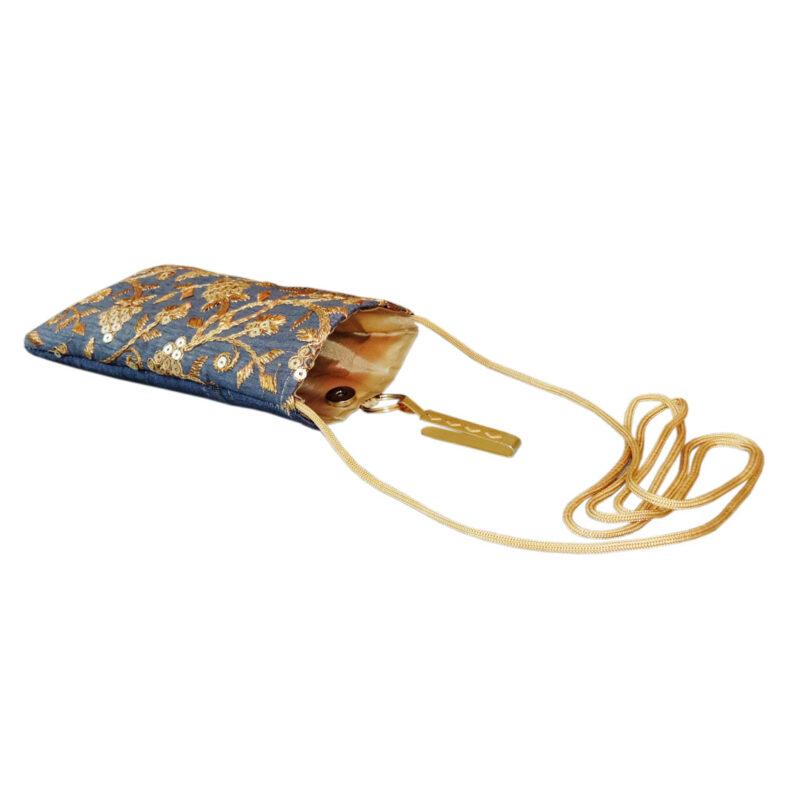 blue mobile saree pouch image view 4