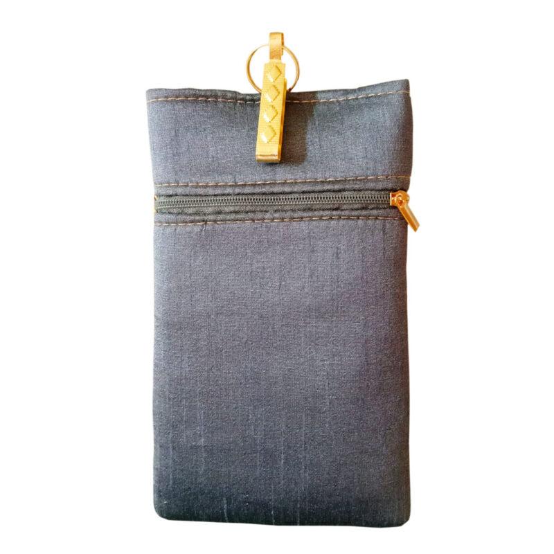 blue mobile saree pouch image view 2