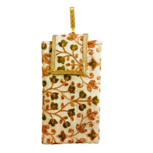 green mobile saree pouch image view 6