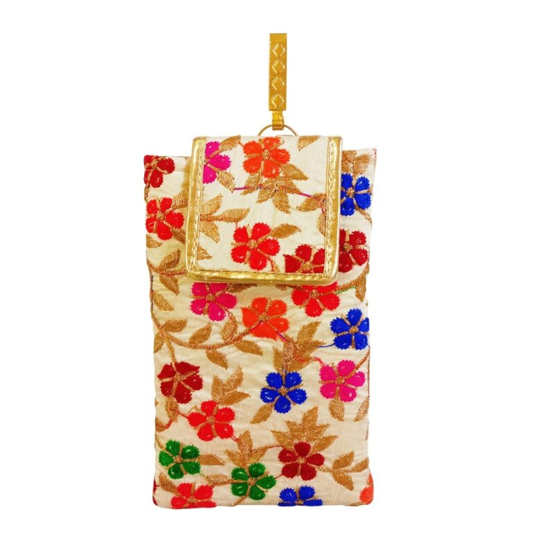 multicolor mobile saree pouch image view 6