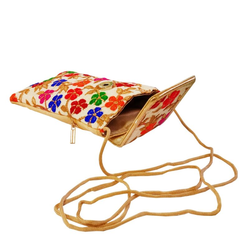 multicolor mobile saree pouch image view 4