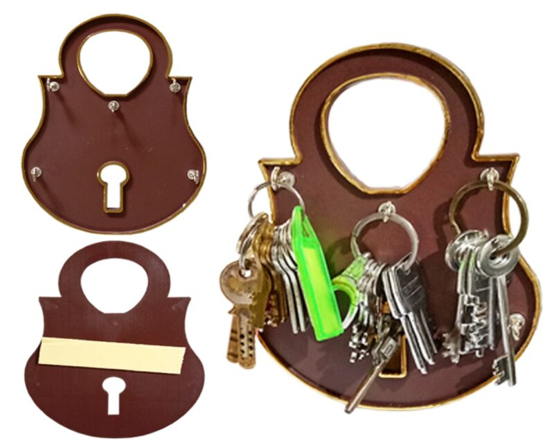 lock and key - wall holder