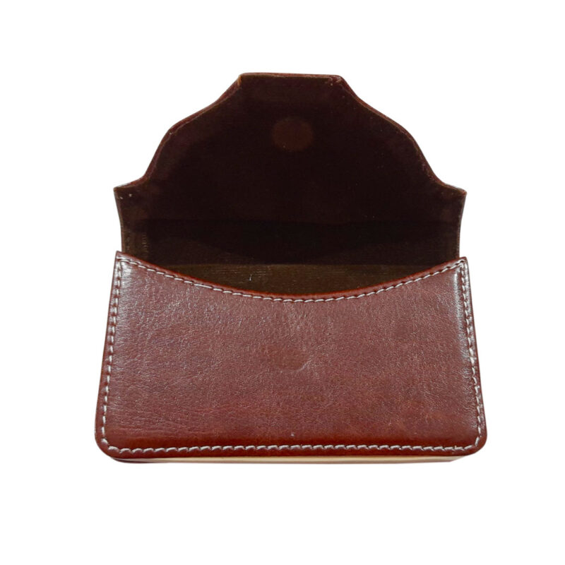 rectangle brown card holder image view 7