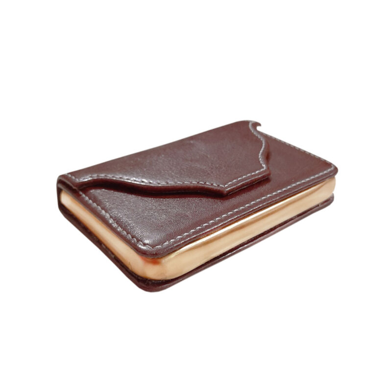 rectangle brown card holder image view 5