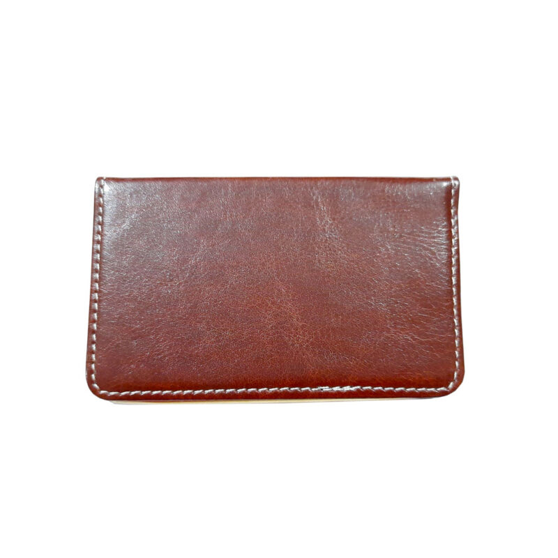 rectangle brown card holder image view 4