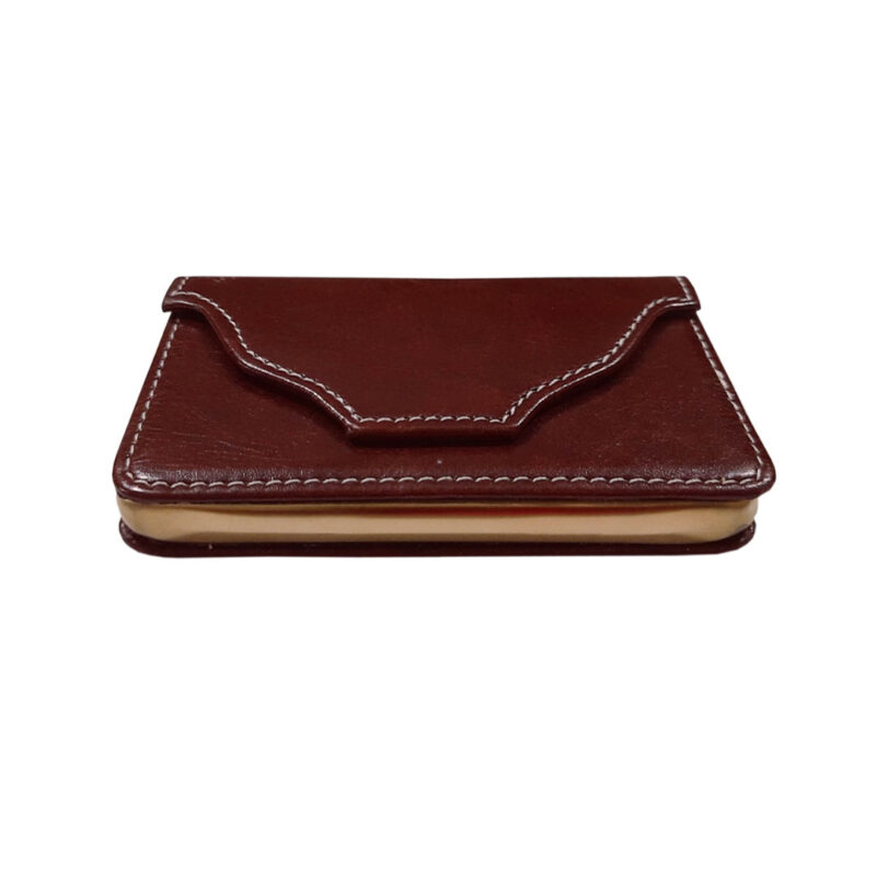 rectangle brown card holder image view 3