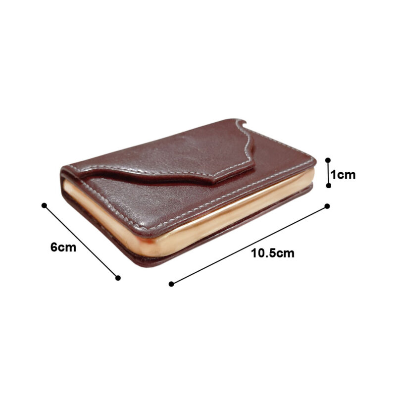 rectangle brown card holder image view 2