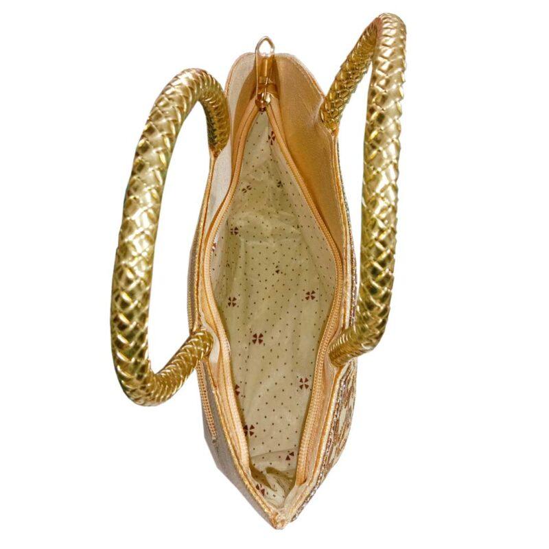 golden handbag image view 10
