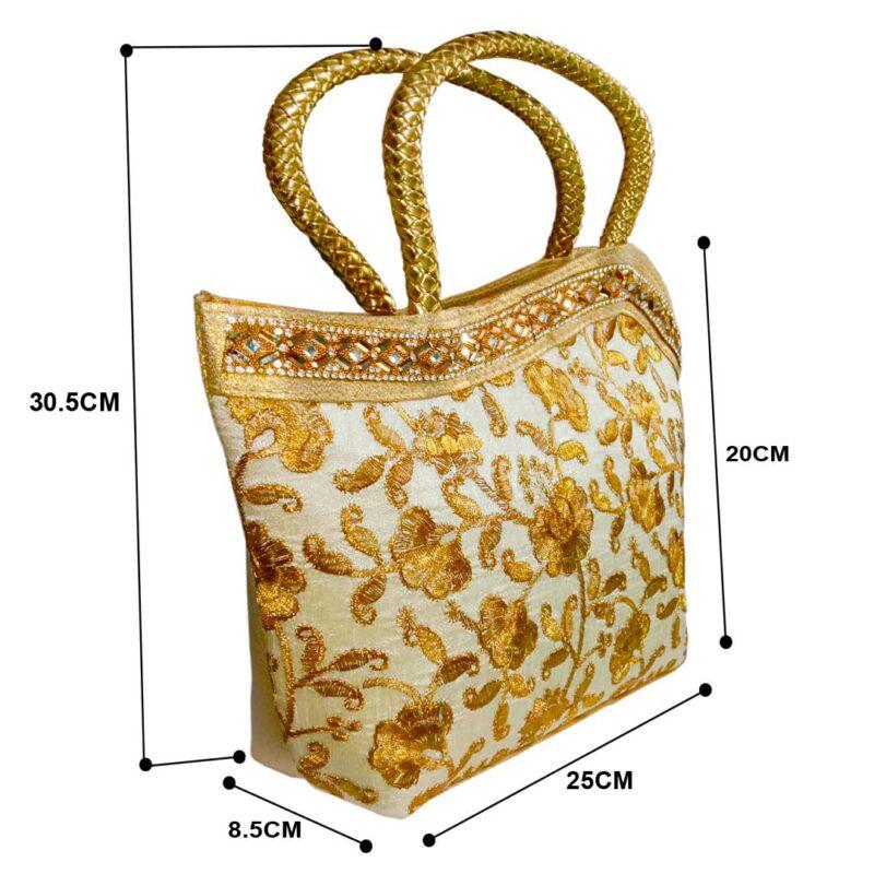 golden handbag for womens
