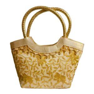golden handbag for womens image view 7