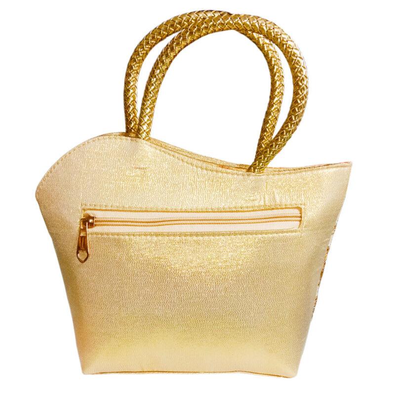 golden handbag image view 3