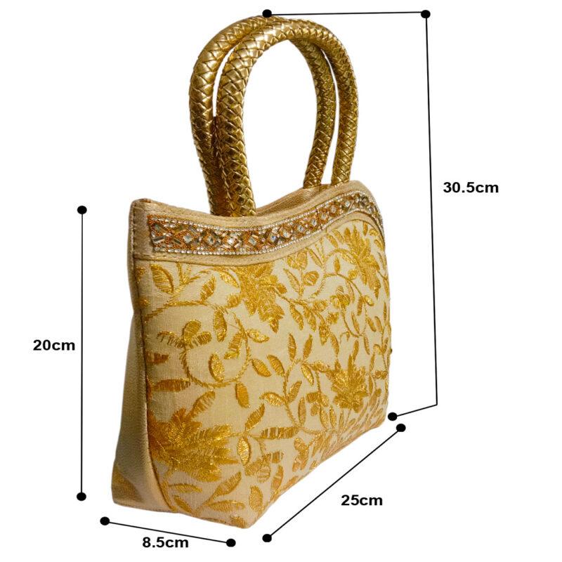 golden handbag for womens image view 2