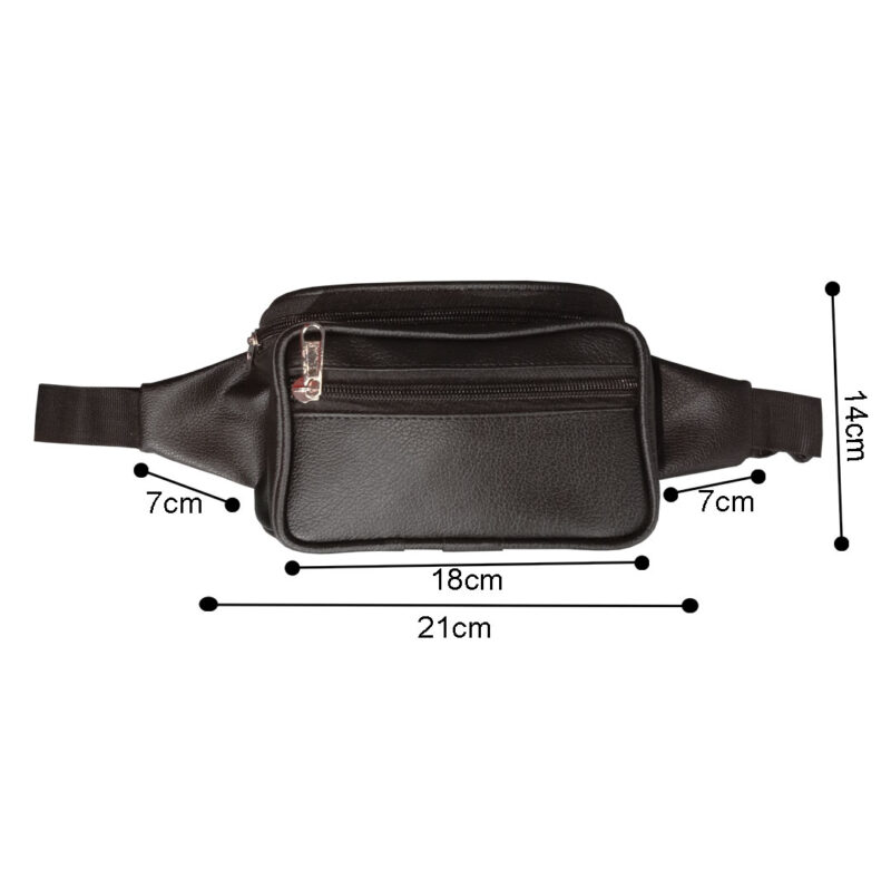 leather waist pouch image view 3