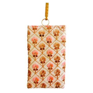 floral mobile saree pouch image view 5