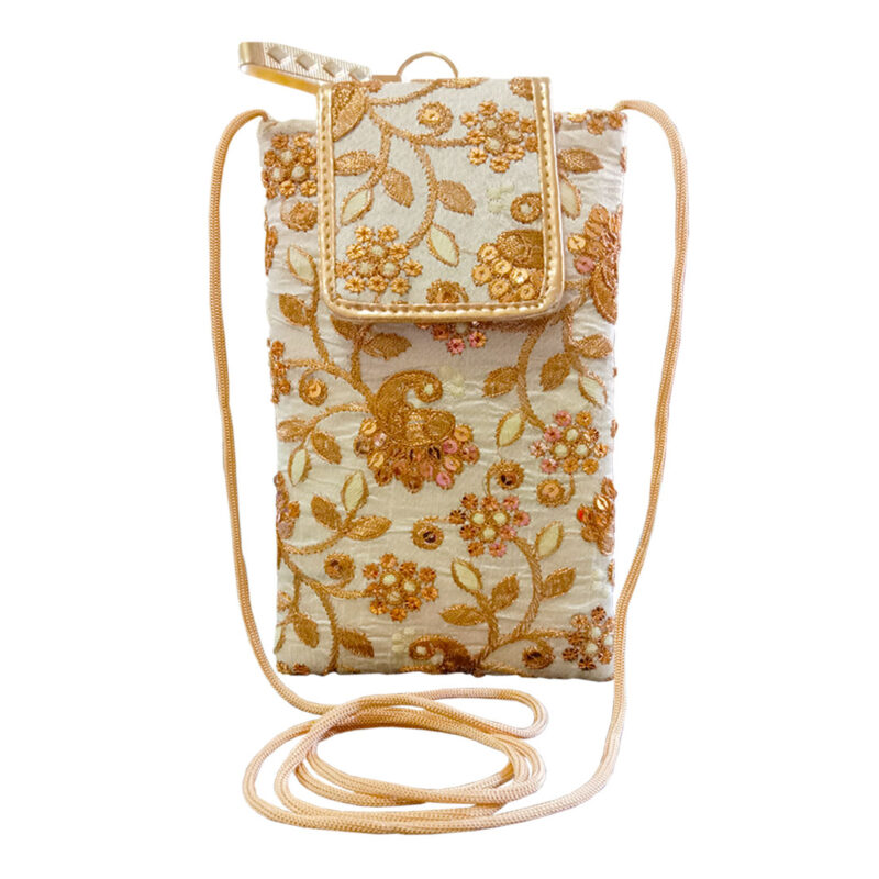 mobile saree pouch golden image view 4