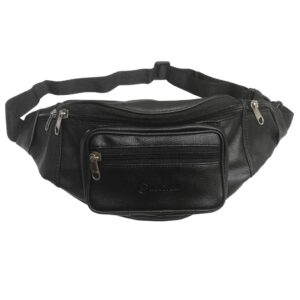 leather waist black pouch image view 8