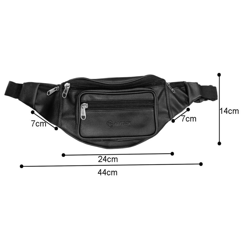 leather waist black pouch image view 5