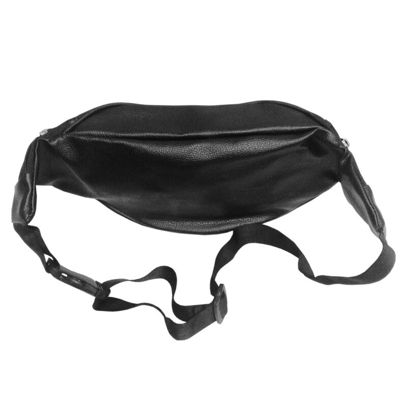 leather waist black pouch image view 3
