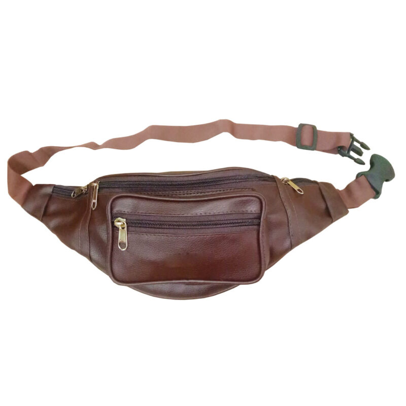 leather waist brown pouch image view 7