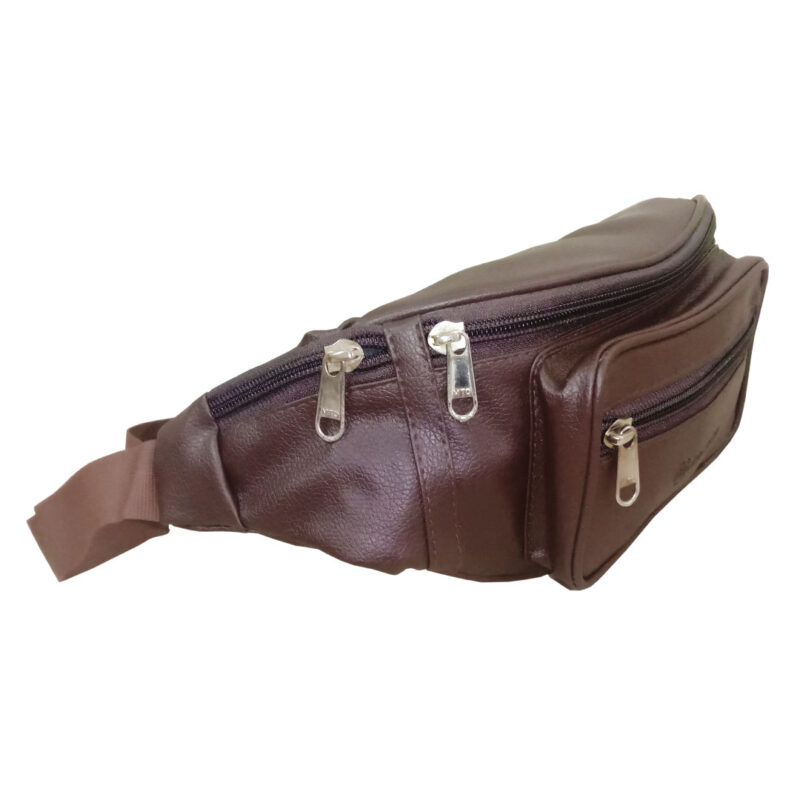 leather waist brown pouch image view 6