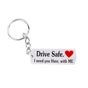 Acrylic Drive Safe Keychain