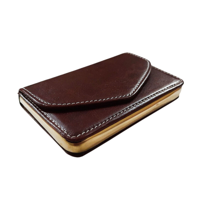 brown leather card holder image view 4