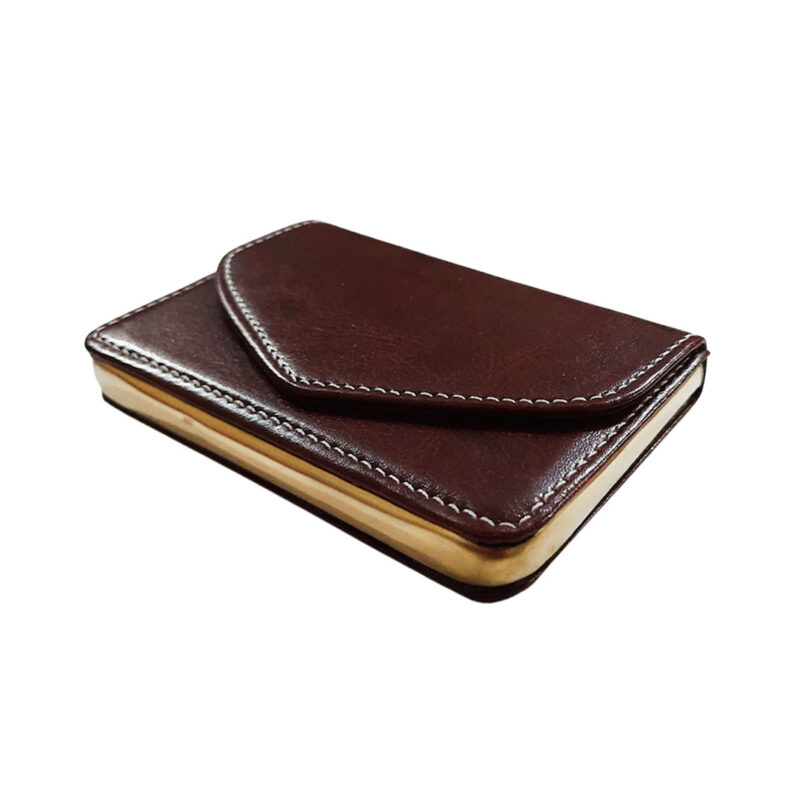 brown leather card holder image view 3